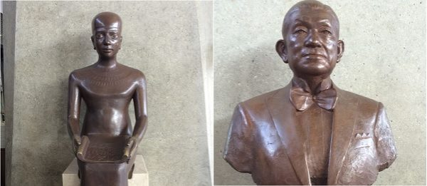 WHOの財団開祖の像