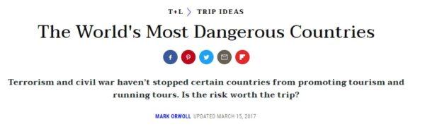 世界で一番危ない国