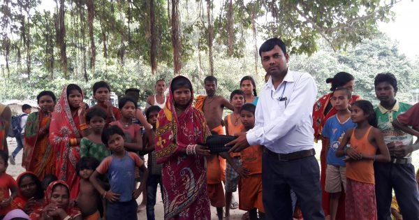 ネパールの貧しい村での栄養教育を支援しました