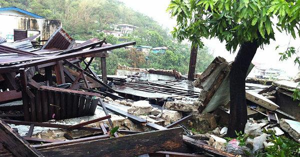 フィリピン クリオン島の台風被害