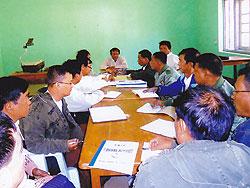 [ミャンマー]保健省と地域保健局とのコーディネーション会議