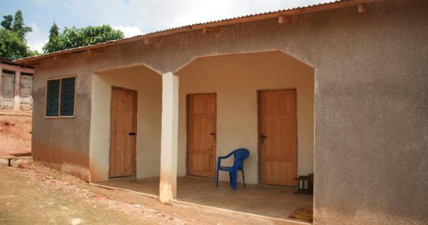 ガーナでハンセン病回復者たちの家が建てられました
