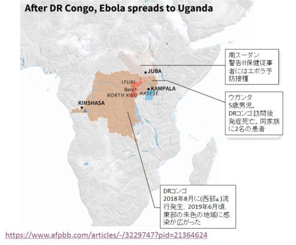 アフリカのエボラウイルス病