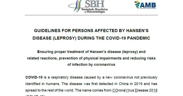 新型コロナウィルスに関するハンセン病回復者向けガイドライン(英語版のみ)