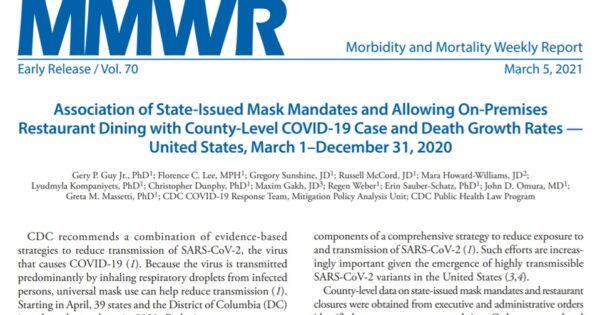 新型コロナ流行に対するマスクとレストランの影響