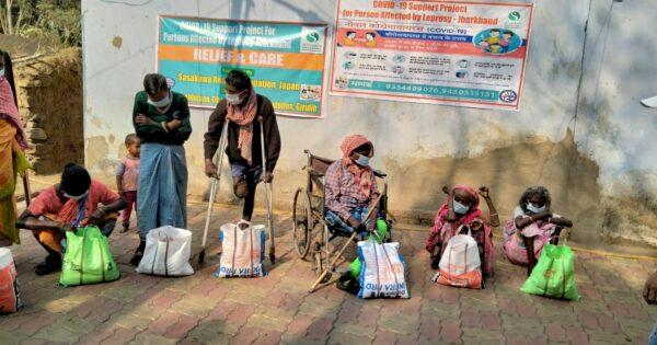 インド・ジャルカンド州第1期 COVID-19ハンセン病コミュニティ支援活動報告①